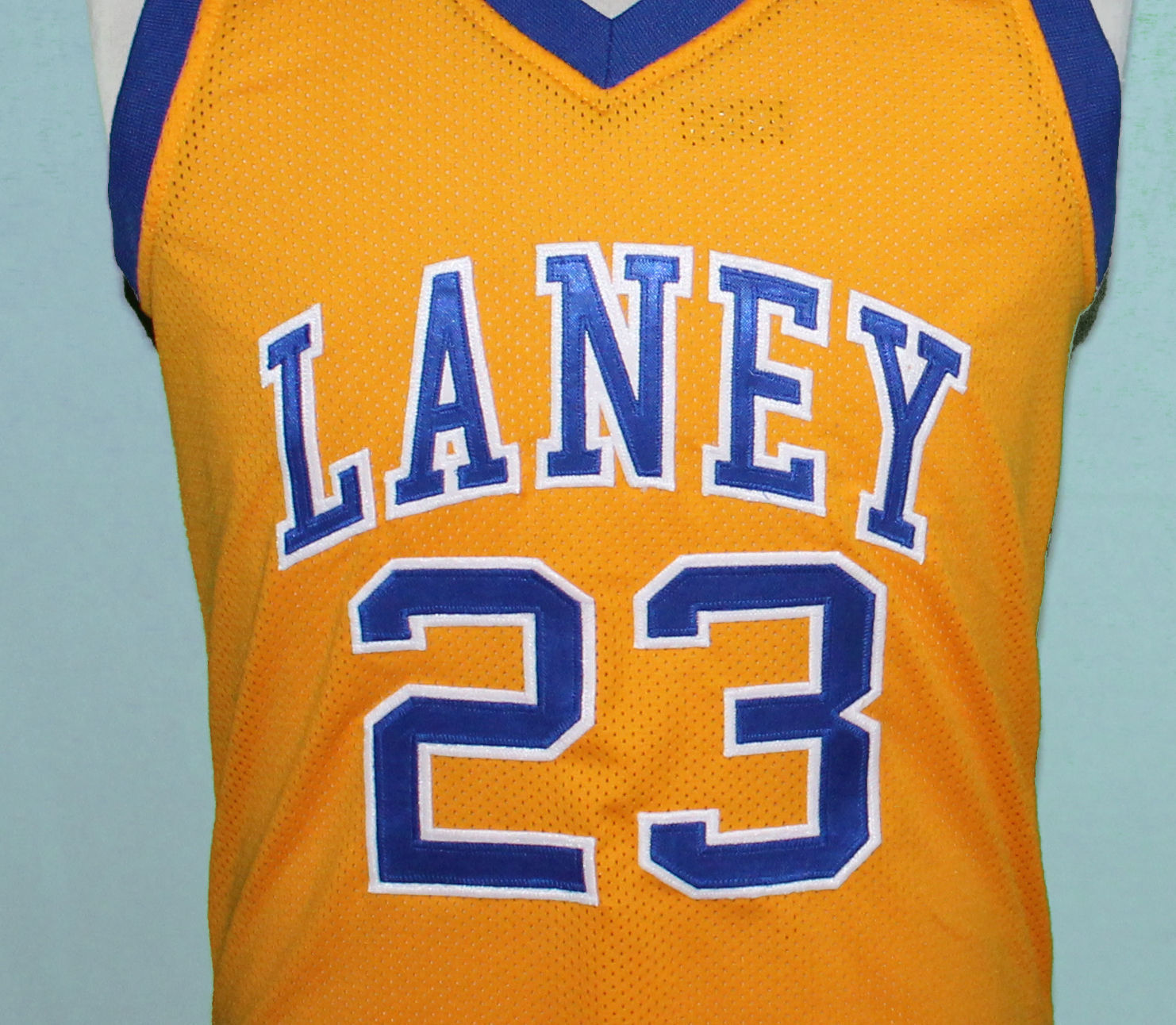 c563cfa89bee6b S l1600. S l1600. Previous. MICHAEL JORDAN  23 LANEY HIGH SCHOOL JERSEY  AUTHORIZED YELLOW SEWN NEW ANY SIZE