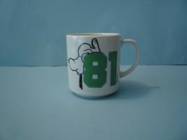 "VINTAGE PEANUTS SNOOPY CHARLES SCHULZ WHITE ""81"" COFFEE MUG CUP 1958 - $6.93"