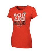 MLB  Woman's Florida  Marlins Orange  Foil Shirts.  XL NWT - $15.99
