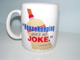 Coffee Mug Housekeeping ain't no joke Alcott funny cup - $14.85
