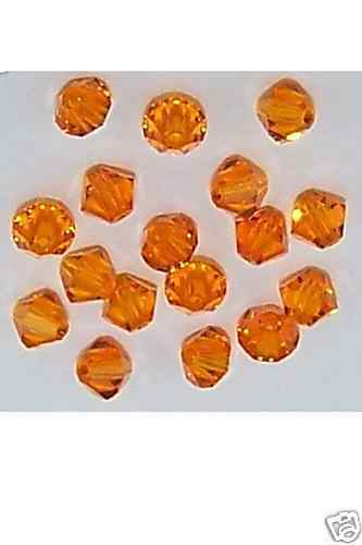 Primary image for 25 Pcs 4MM Sun Swarovski Crystals 5301 Bicone