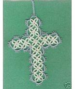 HANDMADE Tatted Cross Bookmark BEAUTIFUL WORK - GTC3325 - $5.99