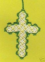 HANDMADE Tatted Cross Bookmark BEAUTIFUL WORK - GTC701 - $5.99