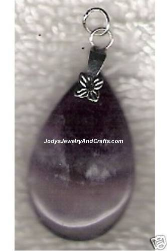 Primary image for Genuine Amethyst Gemstone Drop Pendant 18x30mm