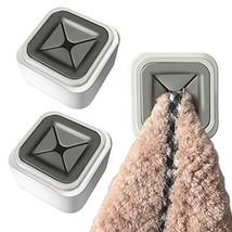 Calin 3Pcs Cupboard Towel Hook Kitchen Towel Holder Free Opening Dish Towel Rack