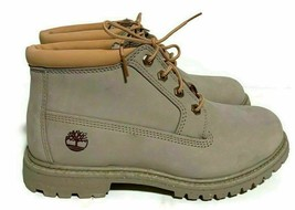 Timberland Women's Nellie Chukka Light Taupe Nubuck Waterproof Boot shoe... - $79.99