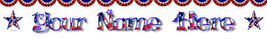 Independence Day Custom Created Web Banner 4th of July Stars  border ban... - $7.00