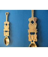 LOVE Cutout Hearts Brass Collector Souvenir Spoon - $7.99