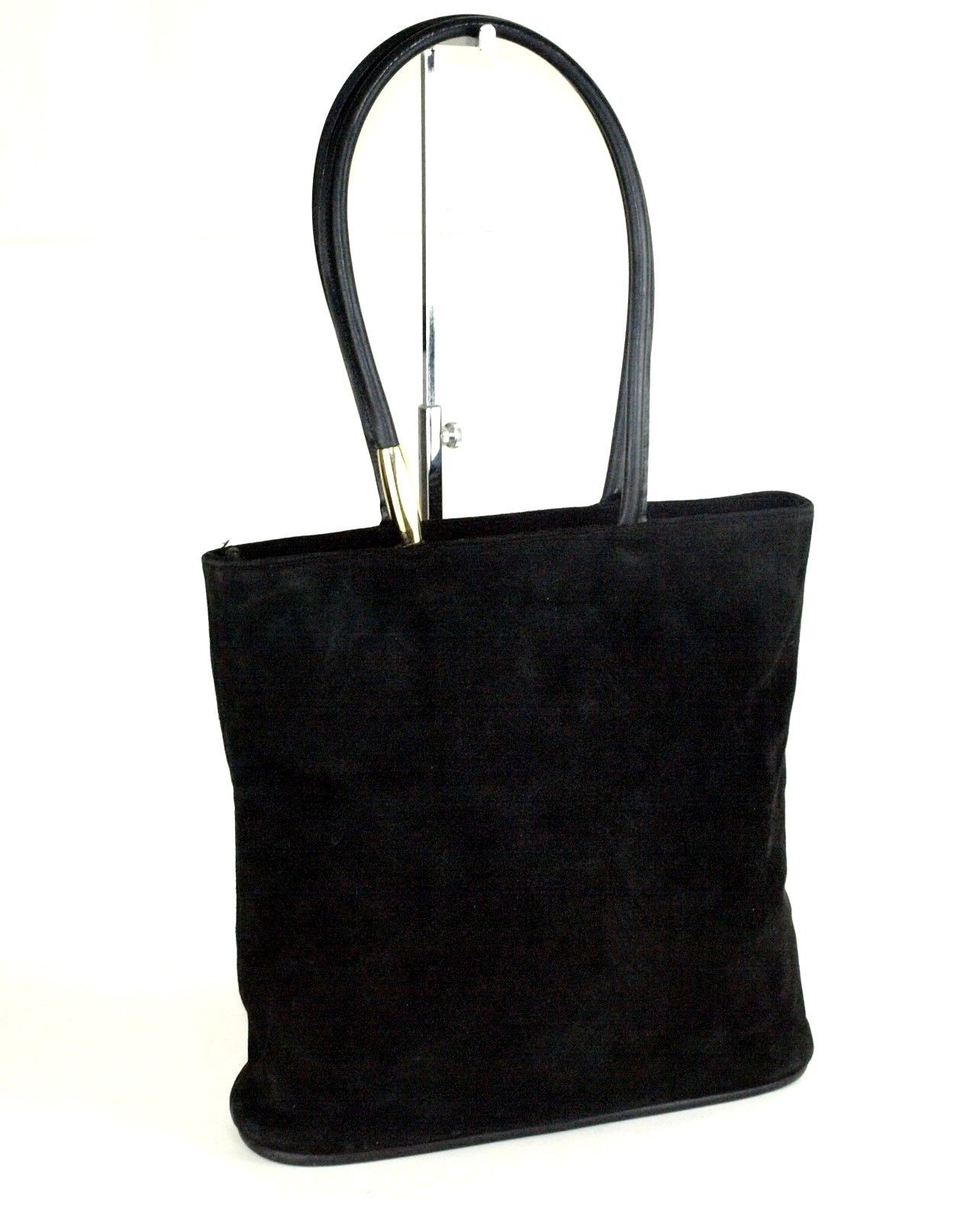 06b17aa5a3ae Auth GUCCI Black Suede Leather Tote Shoulder and 50 similar items. 57
