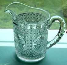 Imperial Amelia 18-oz Pitcher Clear Pressed Glass Cane & Star Medallion ... - $6.99