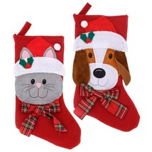 Christmas House Choose Either Cat or Dog Pet Stockings, 18 in.  - $6.00