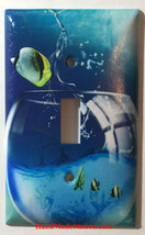 Fish Jump out from Glass Light Switch Power Outlet wall Cover Plate Home decor image 1