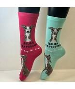 2 PAIRS Foozys Women's Socks ITALIAN GREYHOUND Canine Collection, Dog Pr... - $8.99
