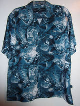Las Vegas Hawaiian Club Shirt Men's Large Blue Hard Rock Cafe EUC - $34.99