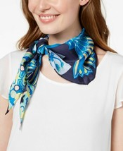 Echo Tiger Lily Silk Diamond Bandana Scarf (Navy) - $26.51
