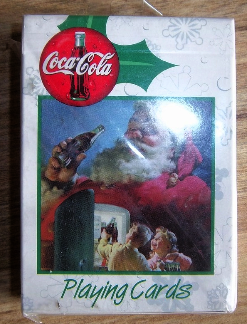 Coca Cola, Coke Playing Cards Deck, Santa Claus, New in Package, 1999