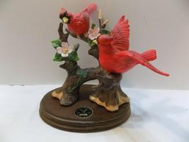 Cardinal Figurine  2 Birds on a Blossoming Tree  Dogwood  1992 - $11.22