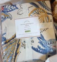 Pottery Barn Merion Duvet Cover Set Blue King 2 King Shams Palampore Flo... - $208.00