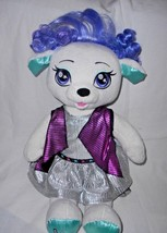Build a Bear Honey Girls Stella White Puppy Dog Dressed Plush Stuffed An... - $24.73