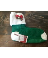 Sweatermates Green White Ugly Christmas Sweater Bootie Socks Vintage NWT - $14.99