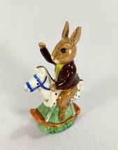 Royal Doulton Figurine Bunnykins Rocking Horse Tally Ho Figurine DB12 England - $23.23