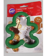 WILTON comfort grip Christmas Cookie Cutter Gingerbread Man cookies baki... - $17.28
