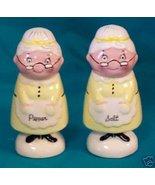 GRANNY Salt & Pepper SHAKERS 1950 NAPCO #5F4762 SO CUTE  - $40.00