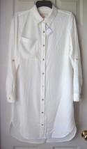 New Michael Kors Women's Long Sleeve Shirt Dress White Size 4 - $69.29