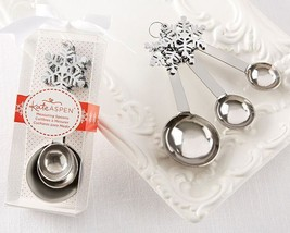 Snowflake Measuring Spoons Set of 12 Bridal Shower Favors Winter Party F... - $38.31