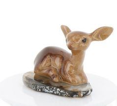 Hagen Renaker Miniature Tiny Deer Baby on Base Stepping Stones #2755 image 4