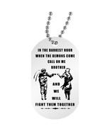 Personalized My Brother Necklace Dog Tag- When The Demon Comes, Naruto F... - $24.70