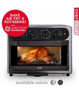DASH DAFT2350GBGT01 Chef Series 7 in 1 Convection Toaster Oven Cooker, R... - $173.99