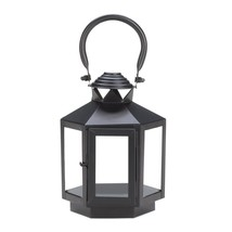 Decorative Candle Lanterns, Rustic Black Lantern Candle Holder Outdoor D... - $24.99