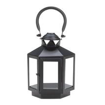 Decorative Candle Lanterns, Rustic Black Lantern Candle Holder Outdoor D... - £19.36 GBP