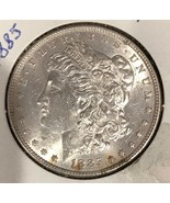 1885-P Morgan Silver Dollar AU/UNC  A113 - $27.72