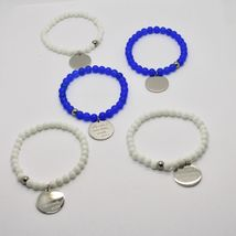 STEEL BRACELET 0,5 AGATE WITH ODE TO LIFE OF MOTHER TERESA OF CALCUTTA image 3