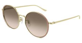 Gucci GG0401SK-004 Gold Tone Metal Frame Multicolor Lens 56mm Sunglasses - $293.02