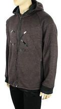 New Men's Calvin Klein J EAN S Full Zip Melange Fleece Jacket Hoodie Xxl - $39.99