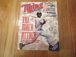 Minnesota Twins Mack 1992 Scorecard Program Souvenir Magazine MLB Baseball - $7.99
