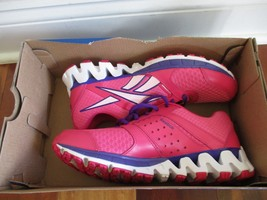BNIB Reebok ZigKick Alpha Running Shoe, big girl/junior, size 5, Pink/vi... - $44.55