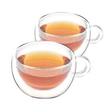VAHDAM - Double Walled Insulated Cup 2 Pieces Clear Glass Tea Cups Coffe... - $9,999.00