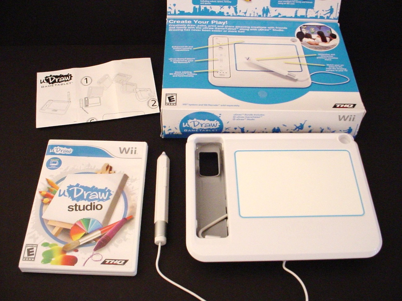 Nintendo wii u draw studio game and u draw tablet in box for Nintendo wii u tablet