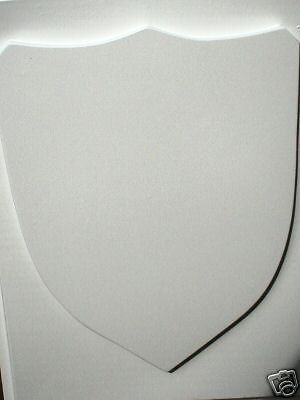 Medieval Celtic Renaissance Plain Smooth Shield Mold Make With Plaster or Cement