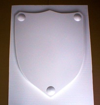 Medieval Celtic Renaissance Plain Smooth Shield Mold Make With Plaster or Cement image 2