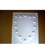 Medieval Celtic Renaissance Huge Mold 24x30 Clavo Shield Using Plaster o... - $79.99