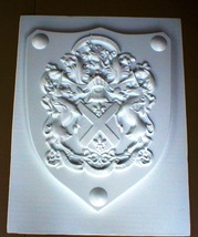 Medieval Celtic Renaissance Huge Mold 24x30 Clavo Shield Using Plaster or Cement image 5