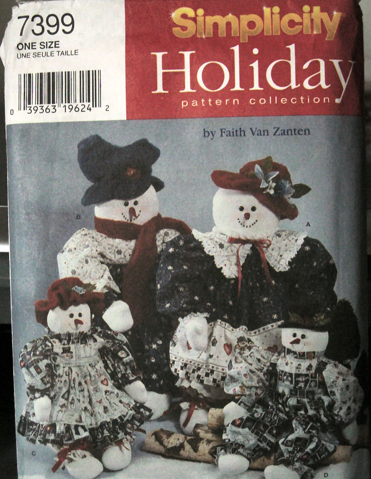 Simplicity 7399 Sewing Pattern: 2 listings