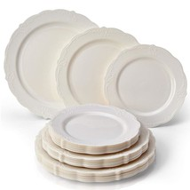 Vintage Collection Dinnerware Set | Party Disposable 120 PC Elegant Plas... - €99,03 EUR