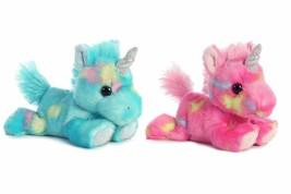 Aurora Bundle of 2 Stuffed Beanbag Animals - Blueberry Ripple Unicorn & Jelly - $13.90