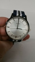 Guess Men's Watch w0795g4 Escrow Wristwatch Blue and white striped band  - $91.00
